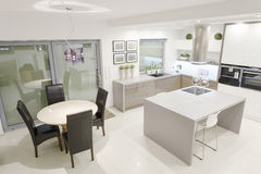Kitchen with dining space royalty free stock photography