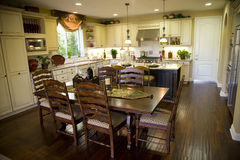 Kitchen and dining table Stock Images