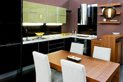 Kitchen and dinning Stock Images