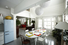 Kitchen and dinning room Royalty Free Stock Photography