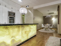 Kitchen and dinning room. Furniture and interior design Stock Photo