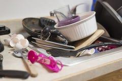 Kitchen disaster after baking Stock Image
