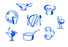 Kitchen dishware Royalty Free Stock Images