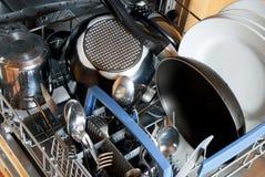 Kitchen dishwasher Royalty Free Stock Images