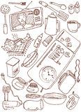 Kitchen doodles. Vector illustration of kitchen doodles vector illustration