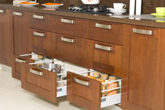 Kitchen drawer Stock Photos