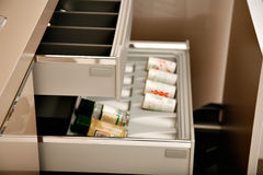 Spice drawers Royalty Free Stock Images