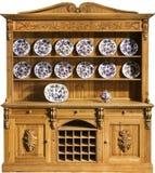 Kitchen dresser pine carved old vintage Stock Image