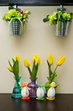 Kitchen Easter decorations Royalty Free Stock Image