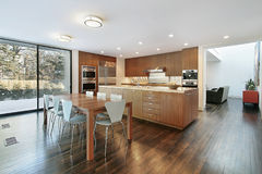 Kitchen with eating area Stock Photo