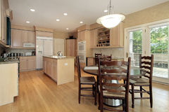 Kitchen with eating area Royalty Free Stock Images