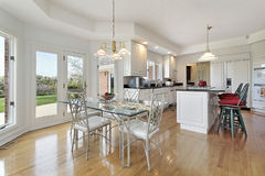 Kitchen with eating area Royalty Free Stock Photo