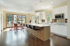 Kitchen with eating area Royalty Free Stock Photography