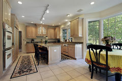 Kitchen with eating area Royalty Free Stock Photos