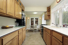 Kitchen with eating area. Kitchen in suburban home with eating area Royalty Free Stock Photo