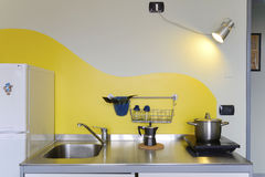 Kitchen with electic hotplate Stock Photo