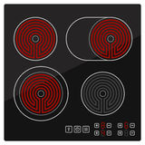 Kitchen Electric hob with ceramic surface and touch control panel Royalty Free Stock Photo