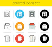 Kitchen electronics icons set Royalty Free Stock Photos