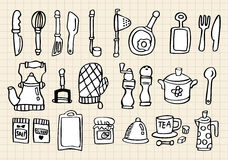Kitchen element,hand draw Stock Photos