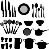 Kitchen elements - vector. Kitchenware, set of kitchen elements - vector illustration Royalty Free Stock Photography