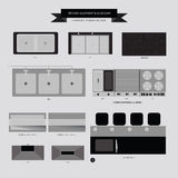 Kitchen Equipment and Accessory Furniture Icon Royalty Free Stock Photos
