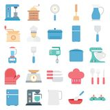 Kitchen Equipment Color Isolated Vector Icons vector illustration