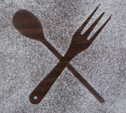 Kitchen equipment and cutlery silhouette designs Royalty Free Stock Image