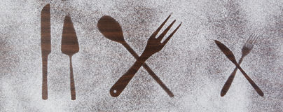 Kitchen equipment and cutlery silhouette designs Royalty Free Stock Photos