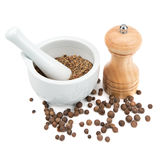 Kitchen equipment for grinding spices Stock Photos