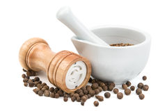 Kitchen equipment for grinding spices Royalty Free Stock Images