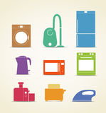Kitchen equipment icons Royalty Free Stock Images