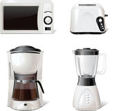 Kitchen equipment icons for windows, print, vector Stock Photos