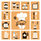 Kitchen  equipment. Stock Image