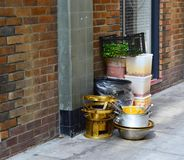 Kitchen equipment sitting on the street Stock Images