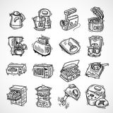 Kitchen equipment sketch Stock Photo
