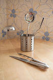 Kitchen equipment on table Stock Image