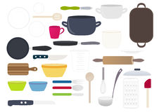 Kitchen equipment vector collection Royalty Free Stock Photography
