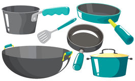 Kitchen equipments Stock Images