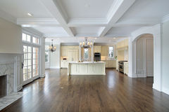 Kitchen and family room Royalty Free Stock Photo