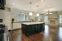 Kitchen and family room Royalty Free Stock Image