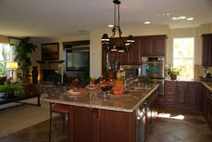 Kitchen and Family Room Royalty Free Stock Photography