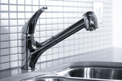 Kitchen faucet royalty free stock photography