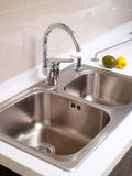 Kitchen faucet. The kitchen faucet stainless steel Stock Image