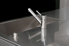 Kitchen faucet Royalty Free Stock Photo