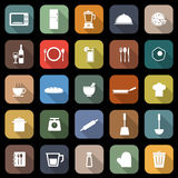 Kitchen flat icons with long shadow Royalty Free Stock Photography