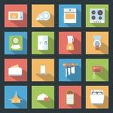 Kitchen flat icons set Royalty Free Stock Photos