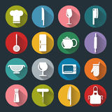 Kitchen flat icons Stock Images