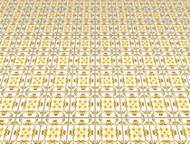 Kitchen floor. Retro kitchen tile floor with pattern Royalty Free Stock Photo
