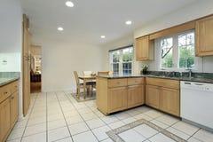 Kitchen with floor design Stock Images