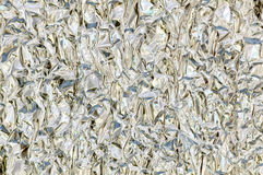 Kitchen foil. Detail (close-up) of a aluminium foil royalty free stock photos